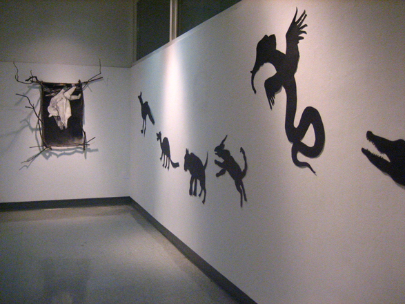 animal silhouettes to fruit bats